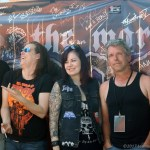 Horehound band members with Mel of Hellmistress Records - Photo by Leanne Ridgeway