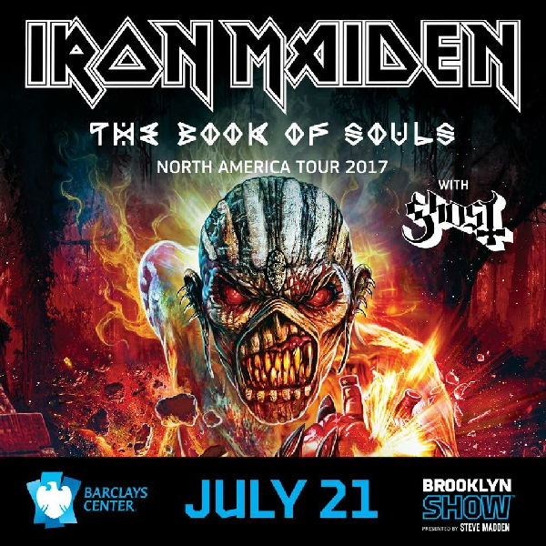Iron Maiden - 7/21/17 Brooklyn Show Flyer