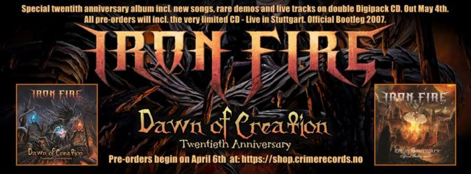 IRON FIRE 'Dawn Of Creation: Twentieth Anniversary' 2CD Collection