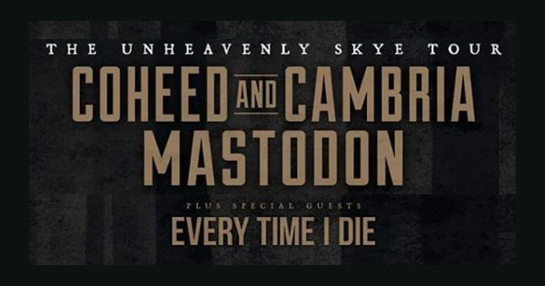 MASTODON Celebrates 'Crack The Skye' 10th Anniv. On Tour w/ COHEED & CAMBRIA + EVERY TIME I DIE