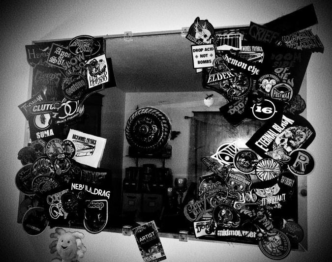 Hearkened Heap Underground Bands patches battle vest mirror