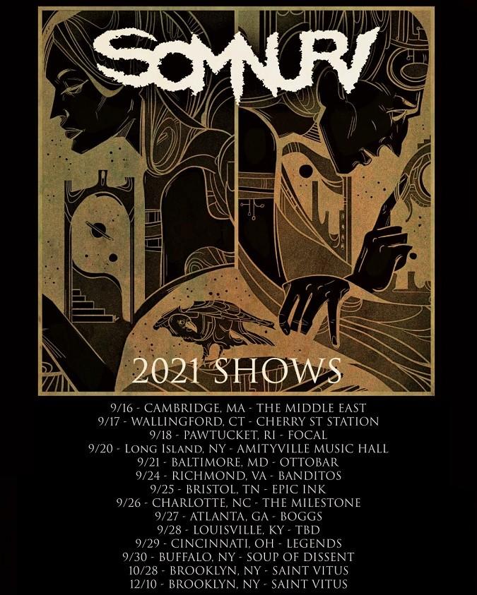 Somnuri Fall 2021 tour poster