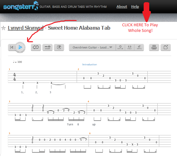 Once you get use to the feel of the intro the verse rhythms are virtually the same. How To Play Sweet Home Alabama Lynyrd Skynyrd How To Play Easy Songs On Guitar Riffriff Com