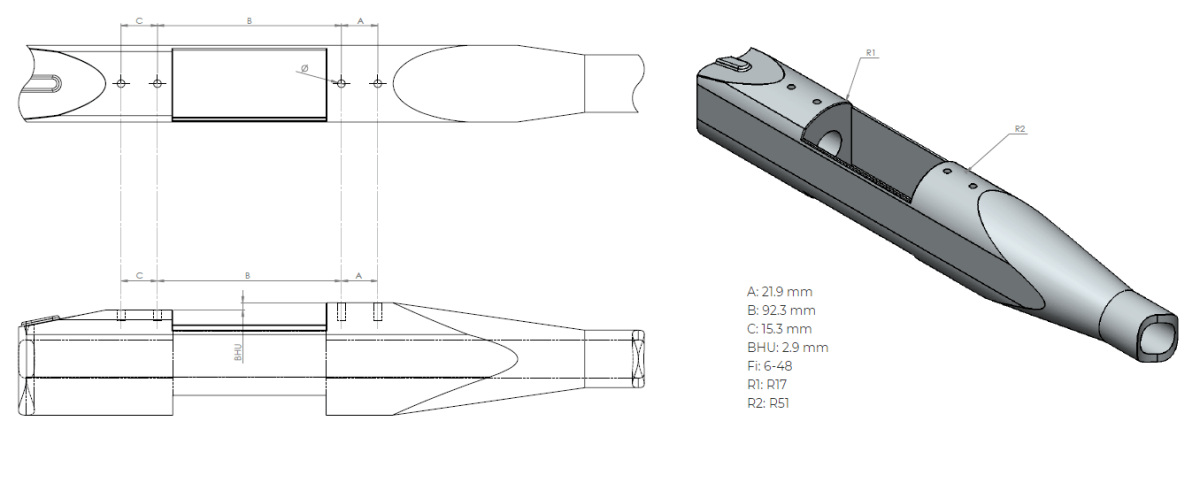 Remington 700 SA dimensions
