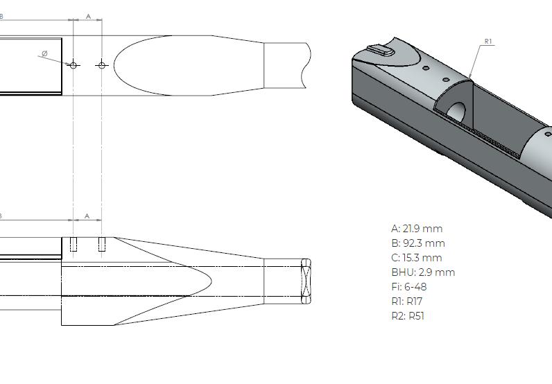 Remington 700 SA dimensions