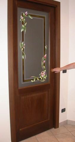 Realizzazione Vetri artistici per porte classiche pitturati rilegati sabbiati Tiffany  vetriartistici