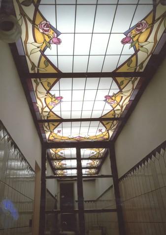 Progettazione realizzazione vetri decorati per Lucernari e