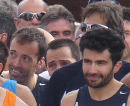Vastinho e Walter alla partenza, in secondo piano l'occhiale dello Scozza