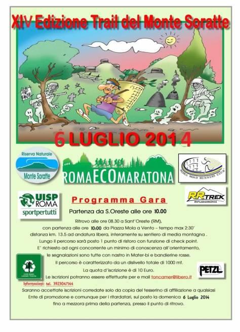 Trail del Soratte 6/7/2014