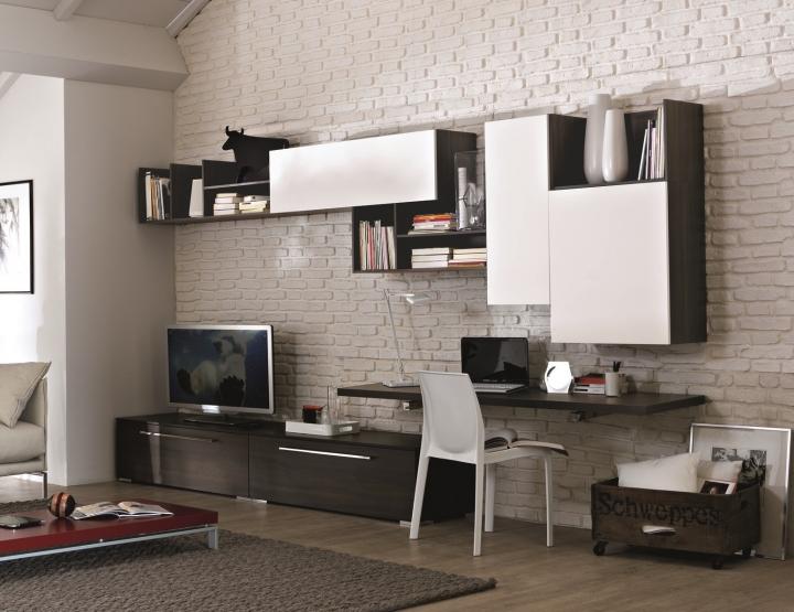 affordable pareti attrezzate soggiorno con scrivania soggiorno with scrivanie moderne per casa