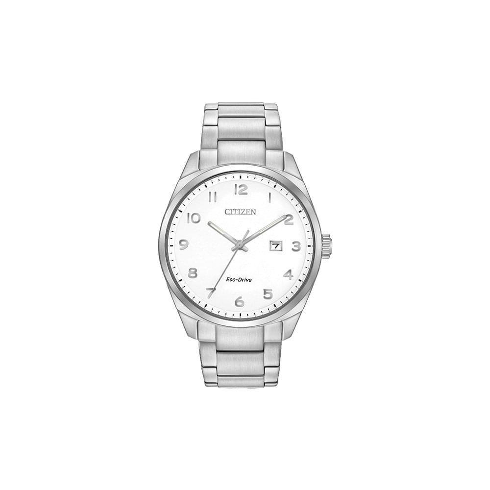 Gents Eco-Drive Stainless Steel Watch on Bracelet with