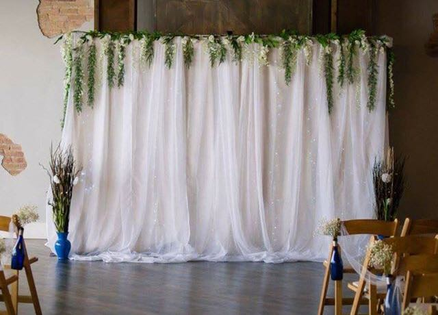 Wisteria Wedding Backdrop Rigby Wedding Rentals