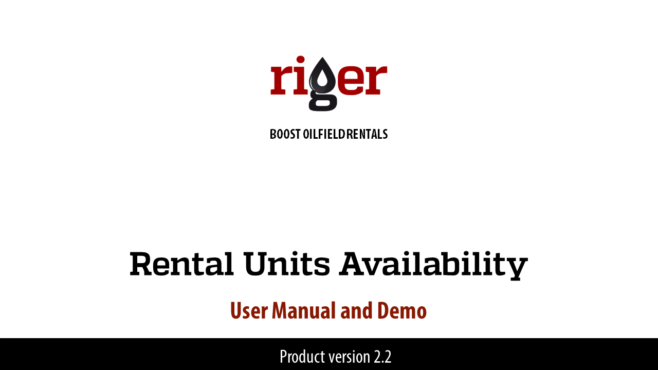 RigER – Oilfield Service and Rental Software