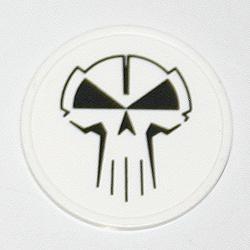 RTC plastic coin white with black logo (RTC1MUNT=W
