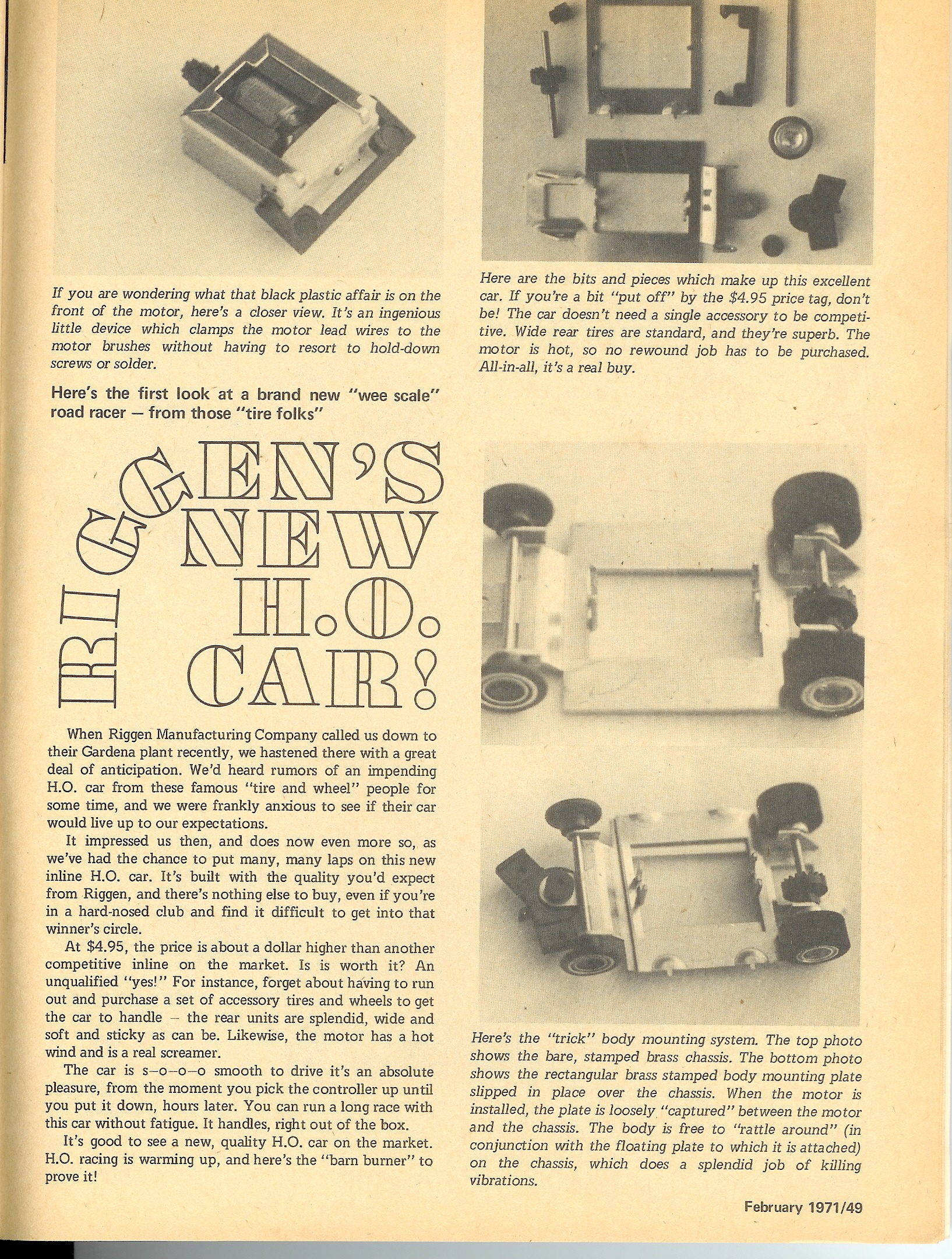 hight resolution of in late 1970 riggen industries of torrance california and later gardena california introduced a new ho scale slot car for competitive slot car racing