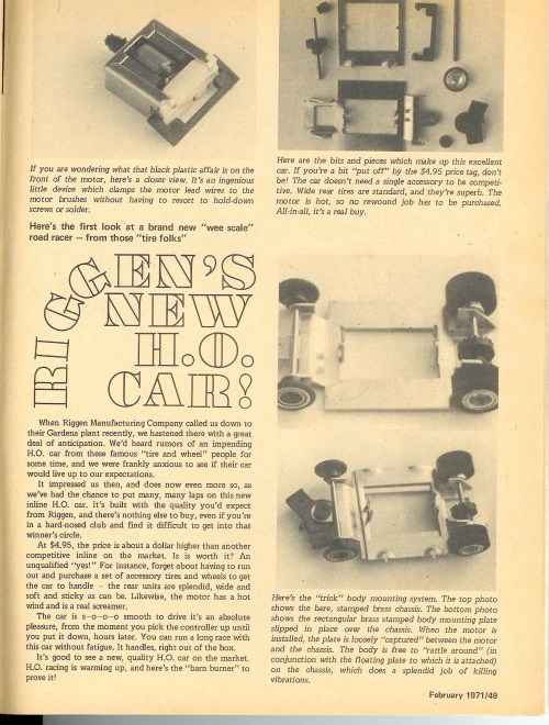 small resolution of in late 1970 riggen industries of torrance california and later gardena california introduced a new ho scale slot car for competitive slot car racing