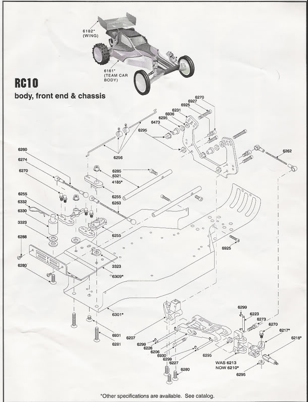 RC10 Build Notes