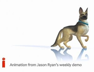 iAnimate dog - cartoon doberman