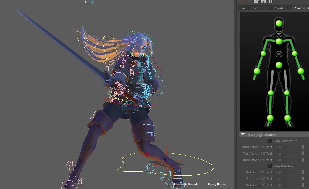 Learn: Maya HIK Custom Rig Motion Capture Retargeting and
