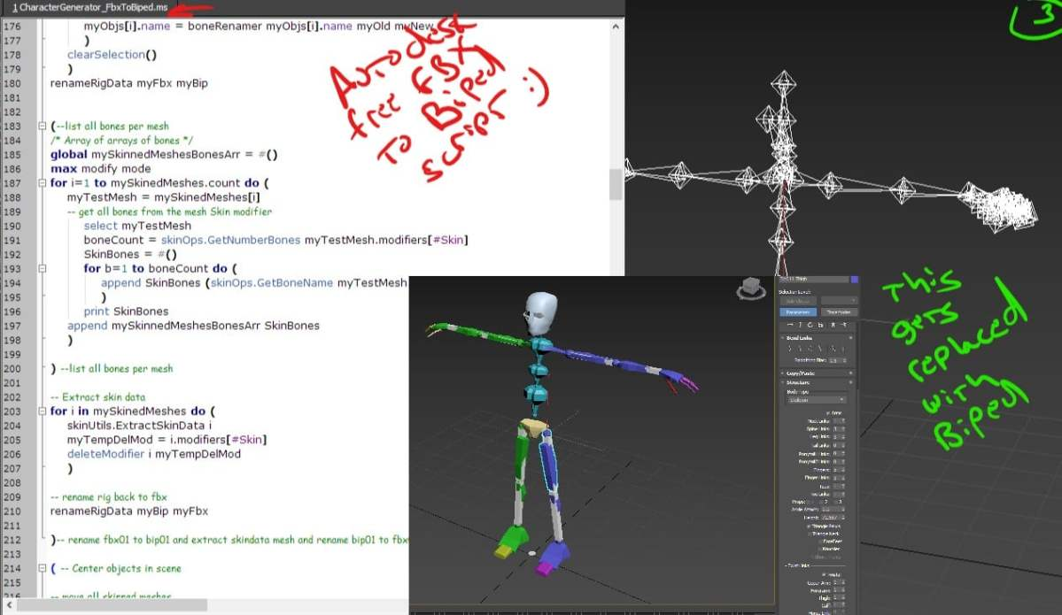 Convert HIK FBX to Autodesk 3dsMax Biped