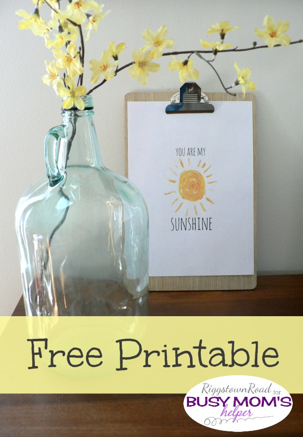 Free Sunshine Printable by Riggstown Road