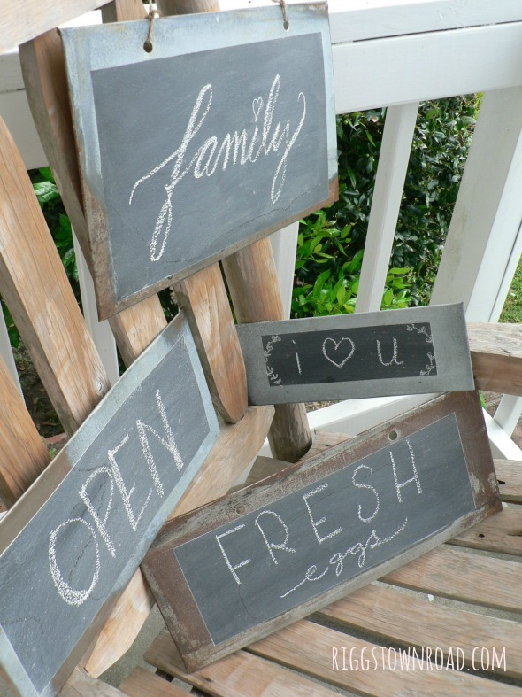 metal chalkboard signs by Riggstown Road