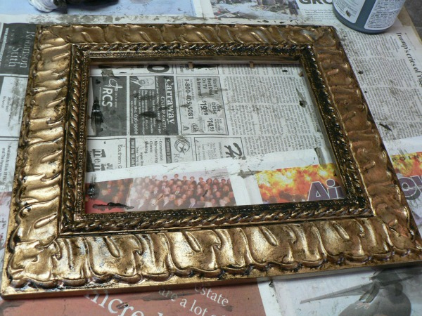 diy antique gold frame by Riggstown Road