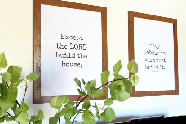 5f7c16338b84 Psalm 127 Free Printables by Riggstown Road Free Downloadable Prints and  Large Wall Art DIY · diy gold antique frame by riggstown road
