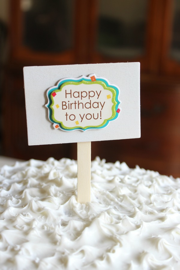diy cake topper by Riggstown Road