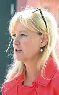 Washington state Rep. Mary Dye of Pomeroy talks Friday in Pomeroy.