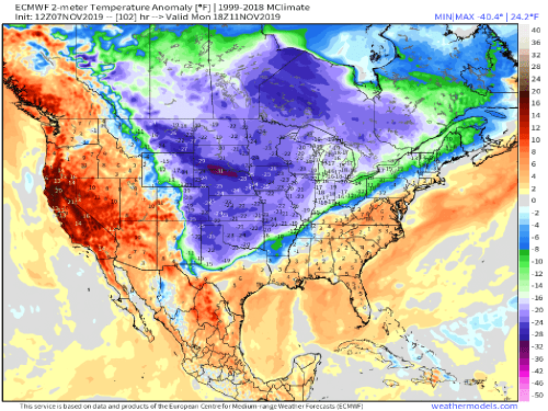 Forecasters expect 170 records to be broken in next week s arctic blast