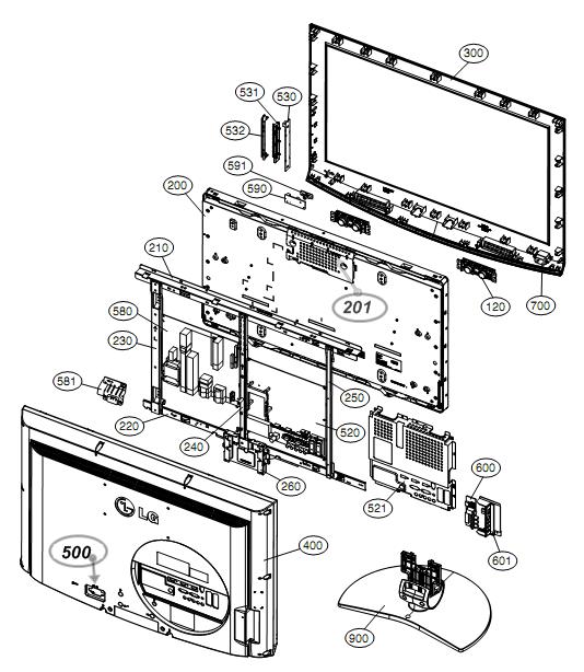Model LG-50PC5D Plasma HDTV Parts