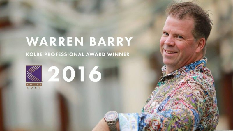 warren barry kolbe certified award