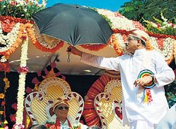 Veerendra Heggade, guardian of the Dharmasthala temple