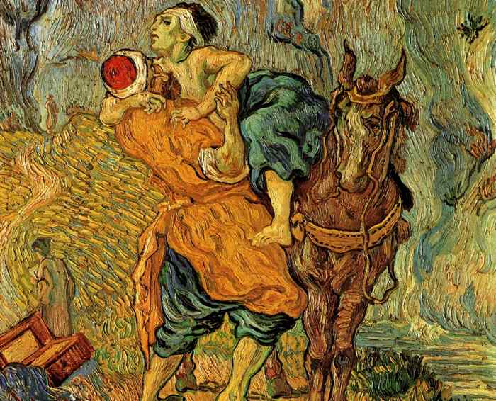 Vincent van Gogh's The Good Samaritan (after Delacroix)