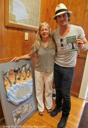 Ian Somerhalder and Charlotte Lowry Collins