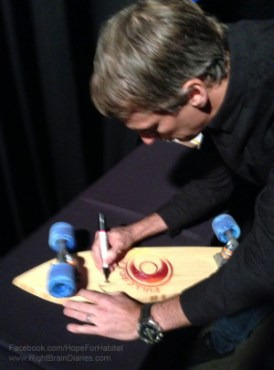 "Tony Hawk signing Devin Boutwell's ""Risen""Hawk 2"