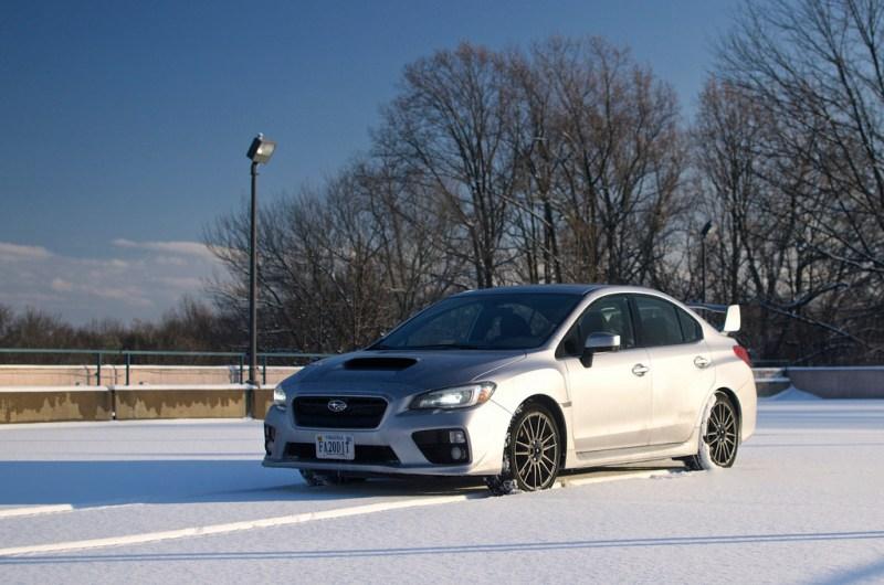 2015 Subaru WRX in the Snow