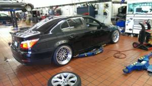 BBS LM replica wheels on BMW 535i