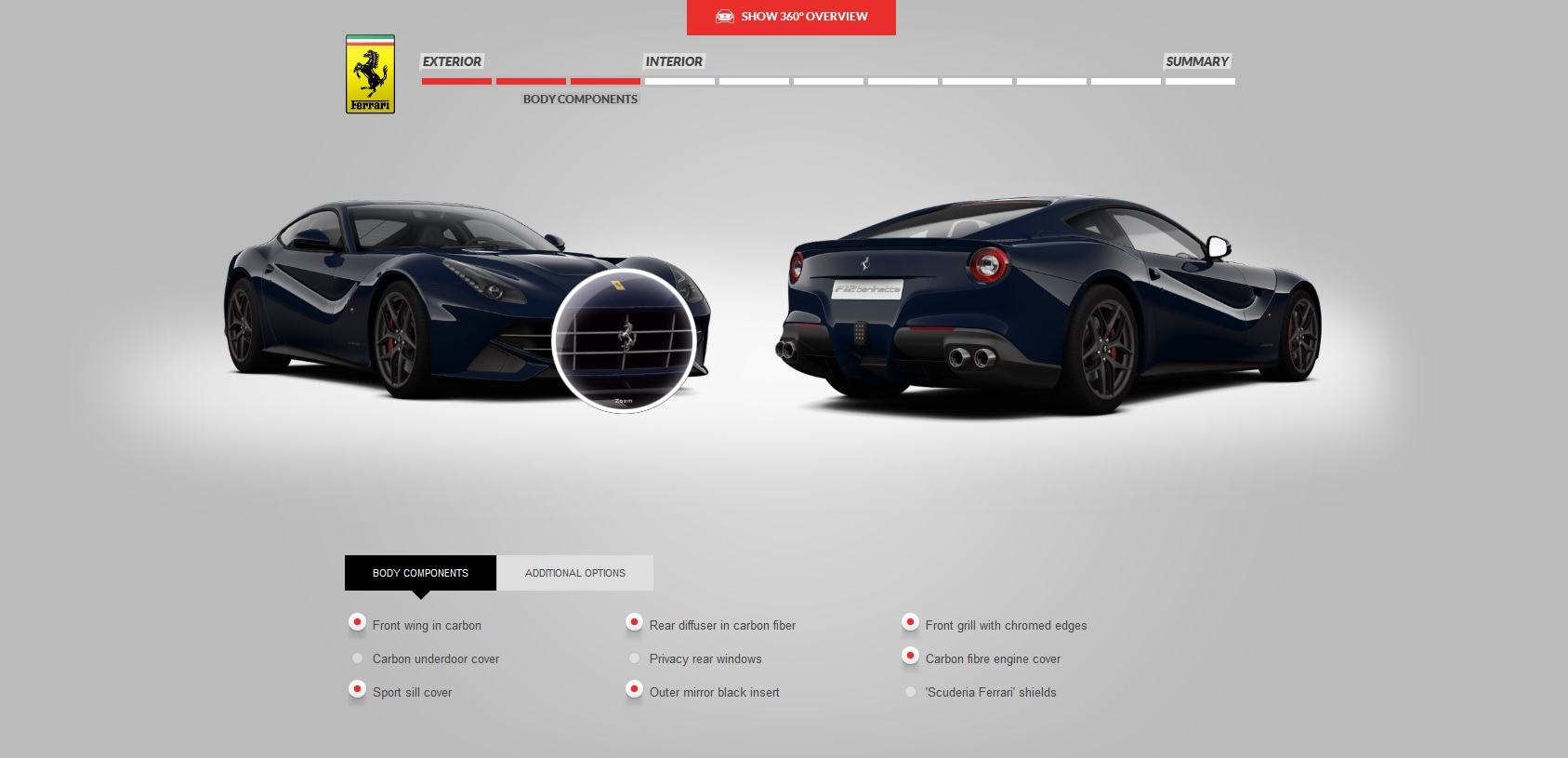 Build Your Own Ferrari F12 Berlinetta Right Foot Down