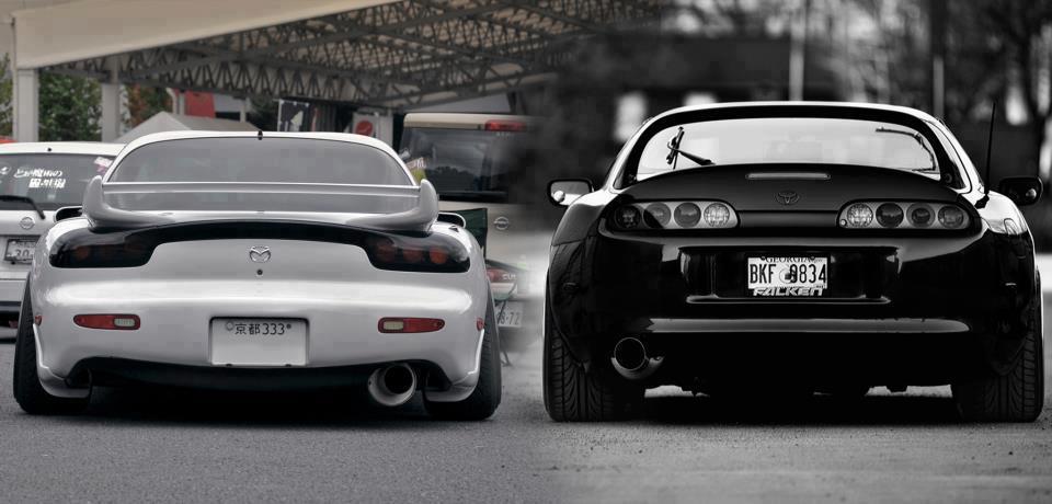 Mazda FD RX-7 vs. Toyota Supra MKIV