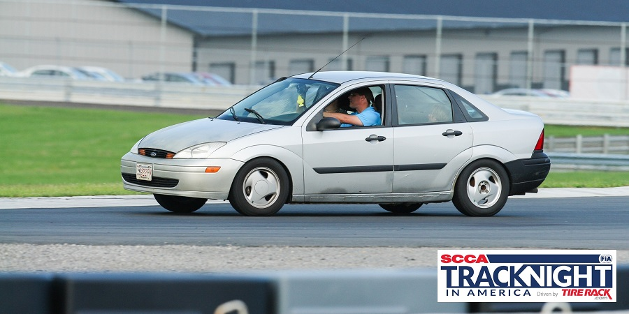 2002 Ford Focus LX on track