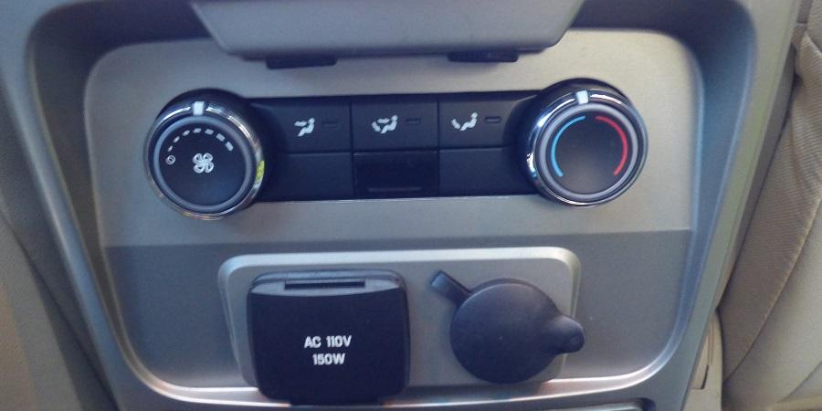 Ford Flex rear controls