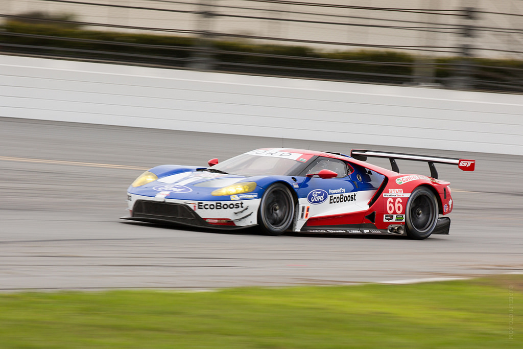 Ford GTLM during practice at the 54th running of the Rolex 24 at Daytona