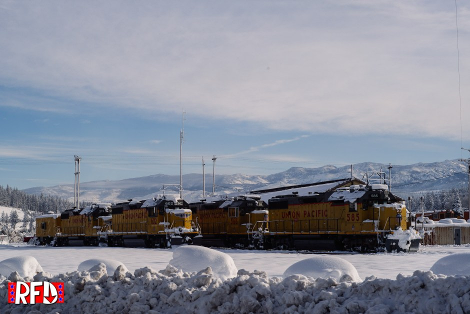 snow covered train