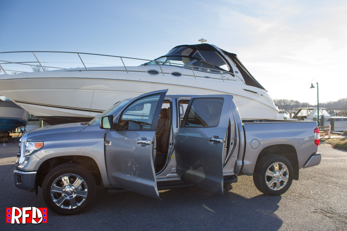 All Doors Open on a Silver 2017 Toyota Tundra 1794 Edition