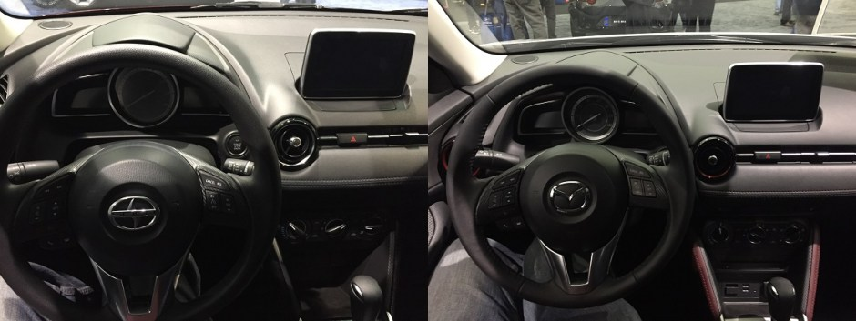 Scion iA and Mazda CX3 dashboards