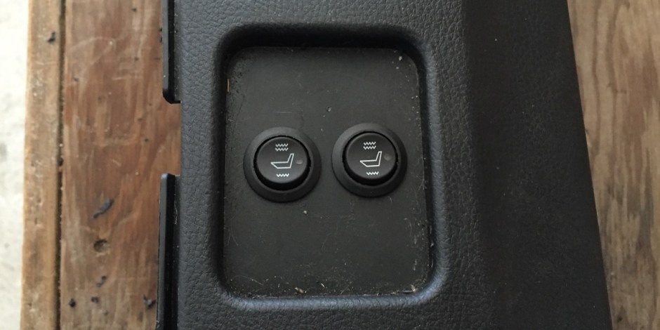 Heated seats switches