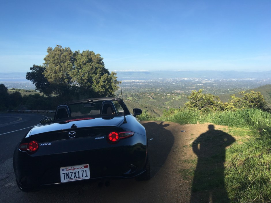 2016 Mazda MX-5 Miata overlooking San Jose