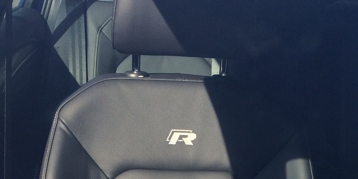 Golf R front seat